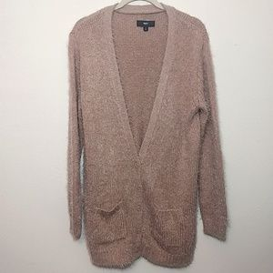 Mossimo | Fuzzy Long Brown Cardigan Sweater - L